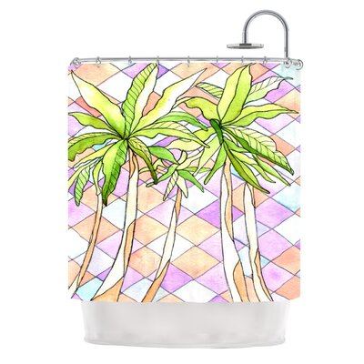 Geometric Tropic by Rosie Brown Shower Curtain