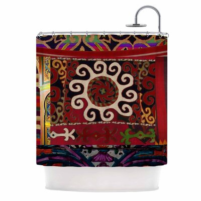 Burst of diverse by S Seema Z Ethnic Shower Curtain