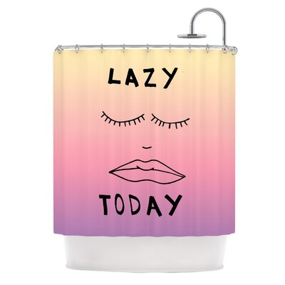 Lazy Today Tropical by Vasare Nar Shower Curtain
