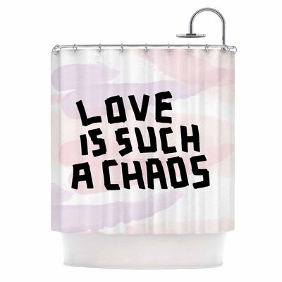 Love Is Such A Chaos by Vasare Nar Pastel Shower Curtain