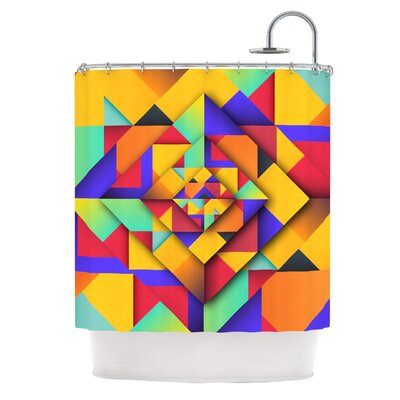 Shapes II by Danny Ivan Geometric Shower Curtain