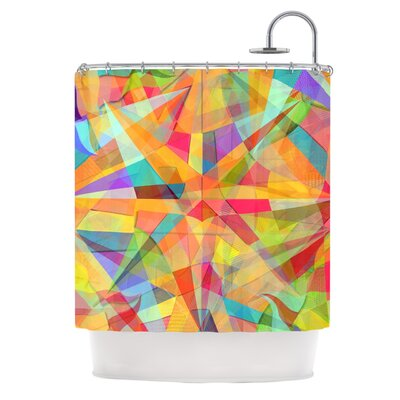 Star by Danny Ivan Geometric Shower Curtain