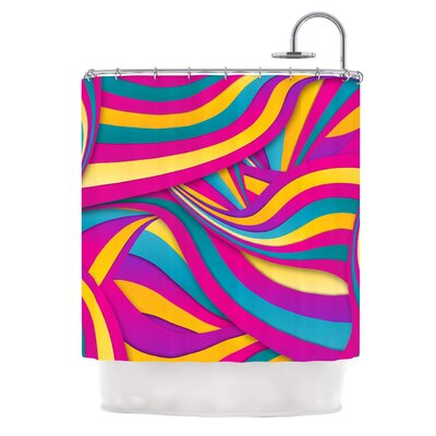 Swirls Everywhere by Danny Ivan Shower Curtain