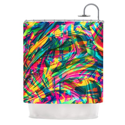 Wild Abstract by Danny Ivan Illustration Shower Curtain