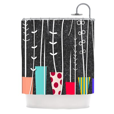 Wild Plants by Danny Ivan Shower Curtain