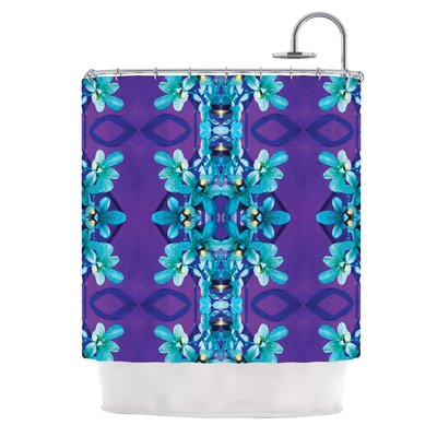 Orchids by Dawid Roc Floral Shower Curtain