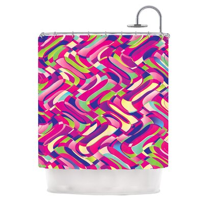 Colorful Movement by Dawid Roc Abstract Shower Curtain