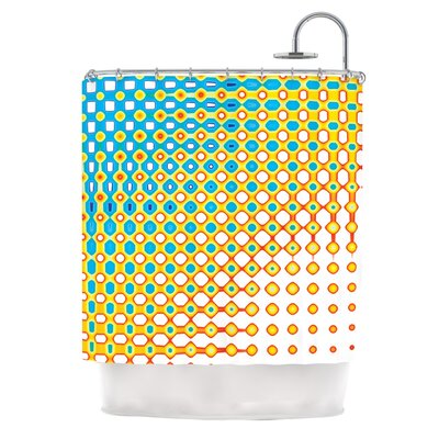 Psychedelic Art by Dawid Roc Shower Curtain