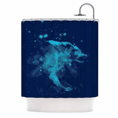Predation Instinct II by Federic Levy-Hadida Wolf Shower Curtain