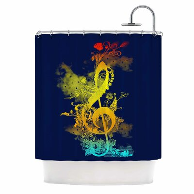 Sound of Nature by Federic Levy-Hadida Music Shower Curtain