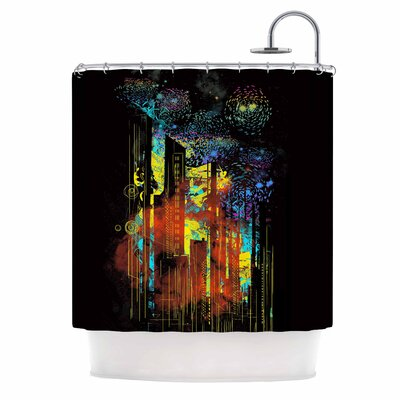 Starry City Lights by Federic Levy-Hadida Shower Curtain