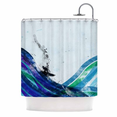 The Wave by Federic Levy-Hadida Shower Curtain