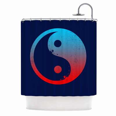 Ying Yang Surfers by Federic Levy-Hadida Shower Curtain