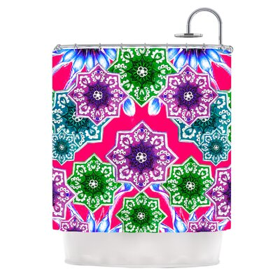 Flower Power by Fernanda Sternieri Floral Shower Curtain Color: Magenta