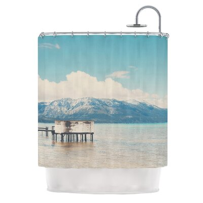 Down By The Lake by Laura Evans Shower Curtain