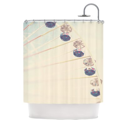 Its All A Blur by Laura Evans Ferris Wheel Shower Curtain