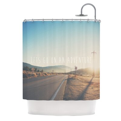Lets Go On An Adventure by Laura Evans Shower Curtain