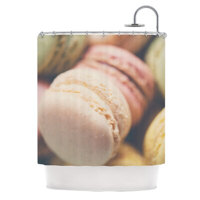 Macaroon Goodness by Laura Evans Pastel Food Shower Curtain