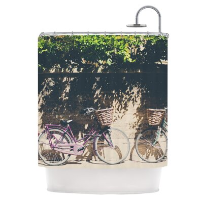 Pretty Bicycles by Laura Evans Shower Curtain