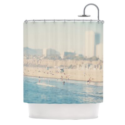Santa Monica Beach by Laura Evans Shower Curtain