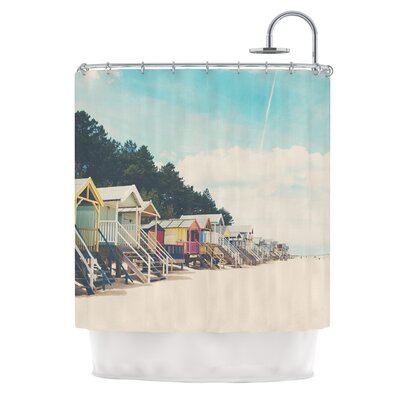 Small Spaces by Laura Evans Beach Coastal Shower Curtain