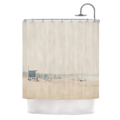 Summer Haze by Laura Evans Coastal Shower Curtain