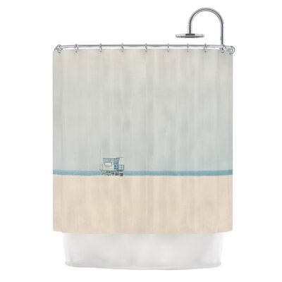 Tower 17 by Laura Evans Coastal Shower Curtain
