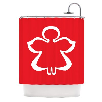Flying Angel by Miranda Mol Holiday Shower Curtain