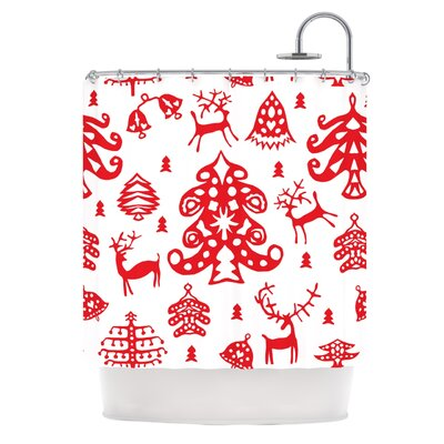 Frosted Landscape by Miranda Mol Holiday Shower Curtain
