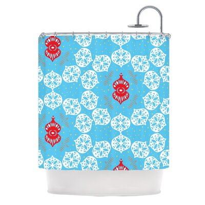 Frosted by Miranda Mol Holiday Shower Curtain