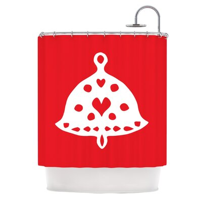 Jingle Bell by Miranda Mol Holiday Shower Curtain