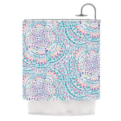 Kaleidoscopic by Miranda Mol Abstract Shower Curtain