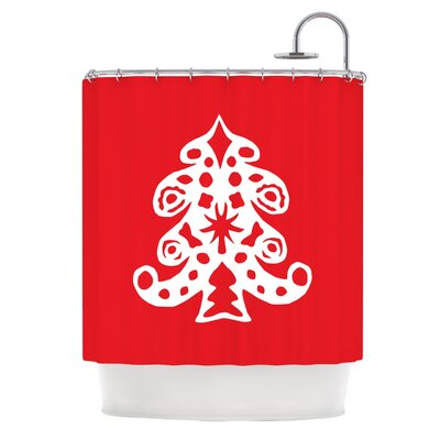 Noble Pine by Miranda Mol Holiday Shower Curtain