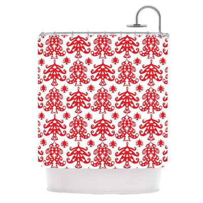 Ornate Trees by Miranda Mol Holiday Shower Curtain