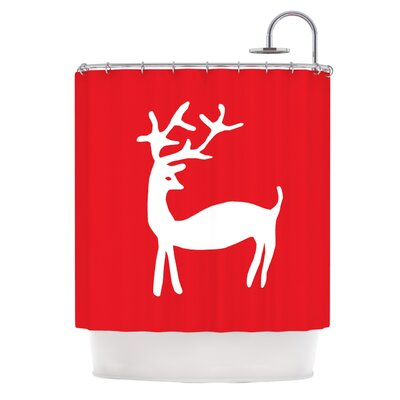 Reindeer by Miranda Mol Holiday Shower Curtain