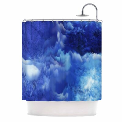 Saltwater Collage by Nina May Shower Curtain