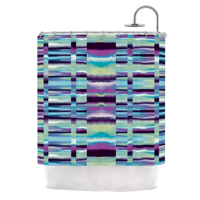 Samanna by Nina May Tribal Shower Curtain Color: Blue