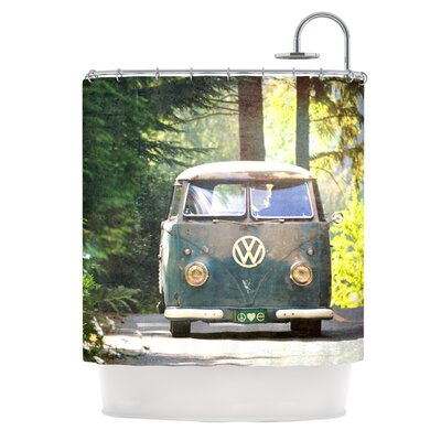 Peace Love Nature by Robin Dickinson Forest Shower Curtain