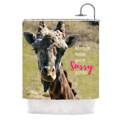 Sassy Pants by Robin Dickinson Shower Curtain