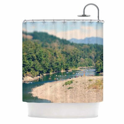 Summertime Float by Robin Dickinson River Shower Curtain