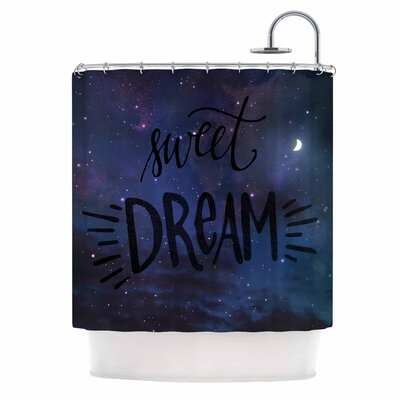 Sweet Dream by Robin Dickinson Galaxy Shower Curtain