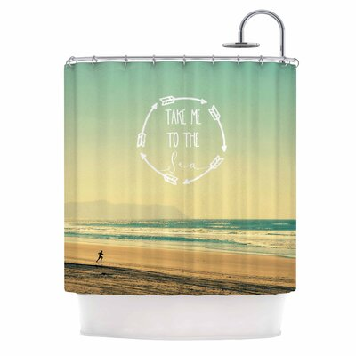 Take Me To The Sea by Robin Dickinson Shower Curtain