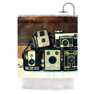 Through the Years by Robin Dickinson Vintage Camera Shower Curtain