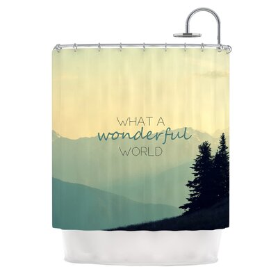 What A Wonderful World by Robin Dickinson Shower Curtain