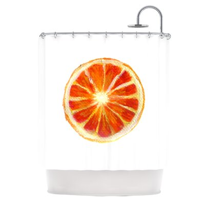 Grapefruit by Theresa Giolzetti Shower Curtain