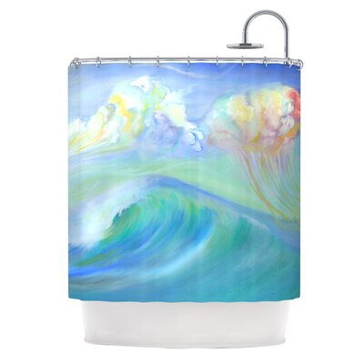 Jelly Fish by Theresa Giolzetti Shower Curtain
