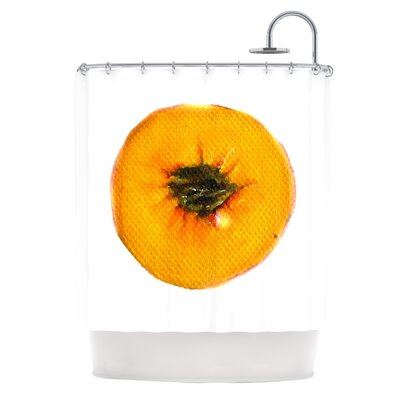 Peach by Theresa Giolzetti Shower Curtain