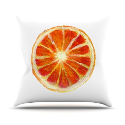 Grapefruit Throw Pillow Size: 20 H x 20 W x 4 D