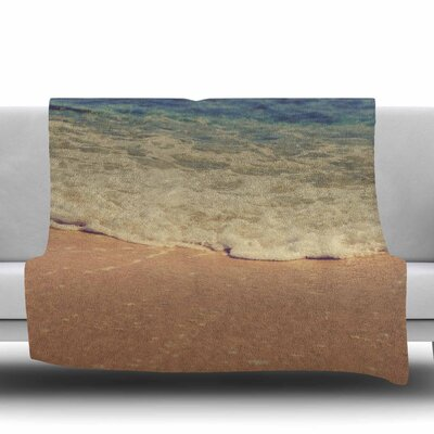 Sand Fleece Throw Blanket Size: 40 L x 30 W