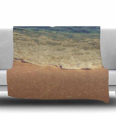Sand Fleece Throw Blanket Size: 60 L x 50 W